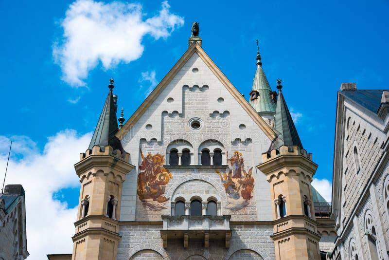 Castelo de Neuschwanstein Palácio românico do renascimento no sudoeste Baviera, Alemanha foto de stock royalty free