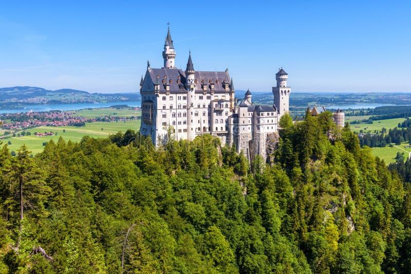 Castelo de Neuschwanstein perto de Fussen, Baviera, Alemanha imagem de stock