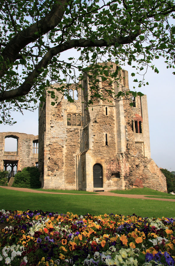 Castelo de Newark fotografia de stock royalty free