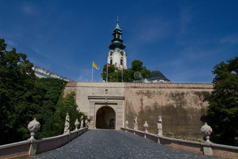 Castelo de Nitra, Eslováquia, Europa foto de stock
