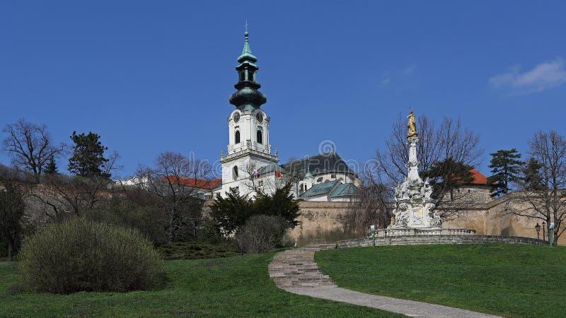 Castelo de Nitra, Slovakia fotografia de stock