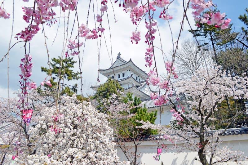 Castelo de Ogaki em Gifu imagens de stock royalty free