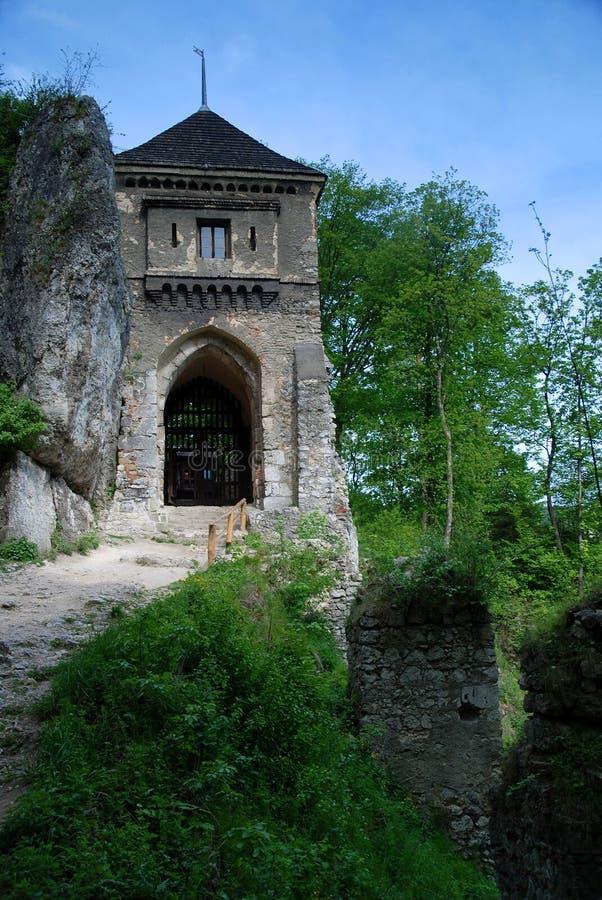 Castelo de Ojcow imagens de stock