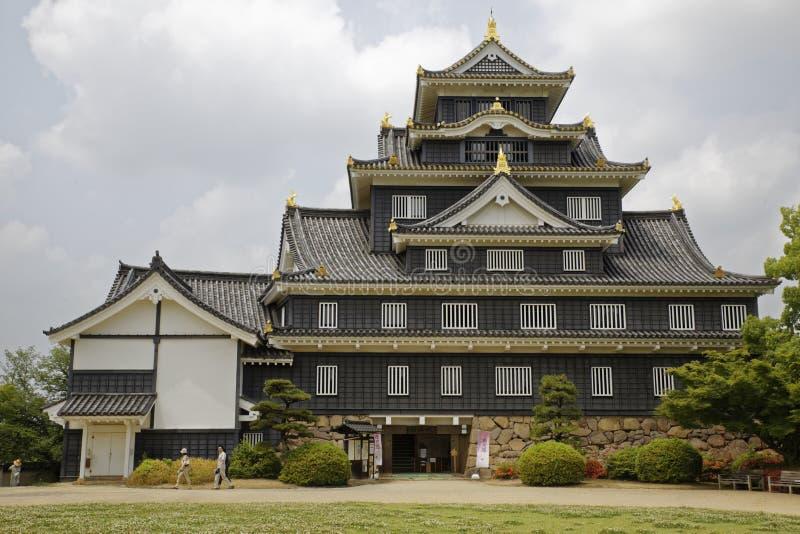 Castelo de Okayama foto de stock