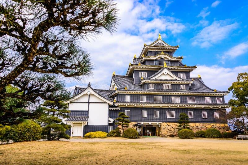 Castelo de Okayama Japão fotografia de stock royalty free