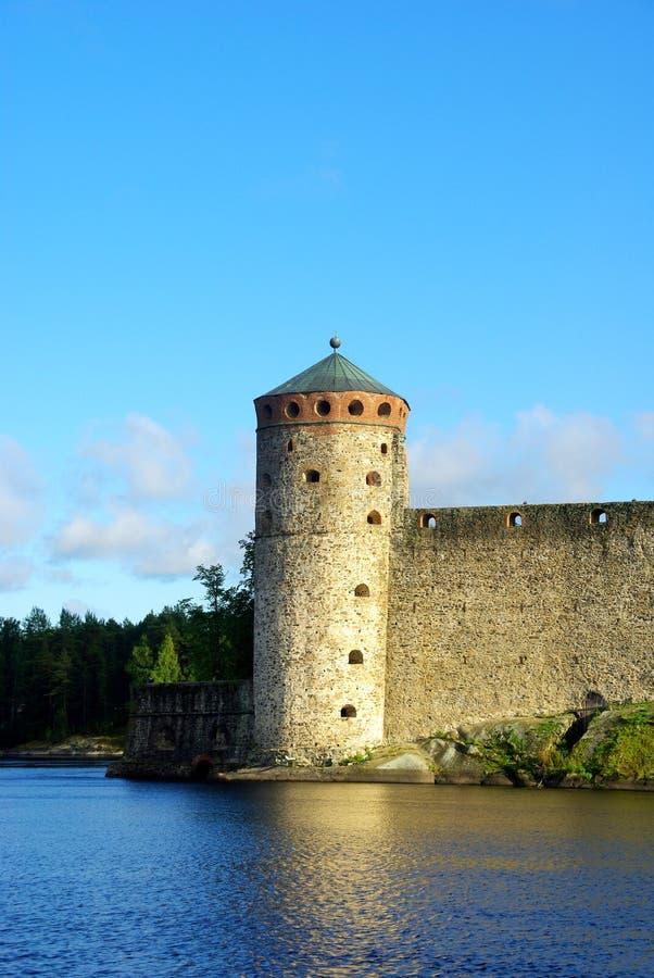 Castelo de Olavinlinna fotos de stock