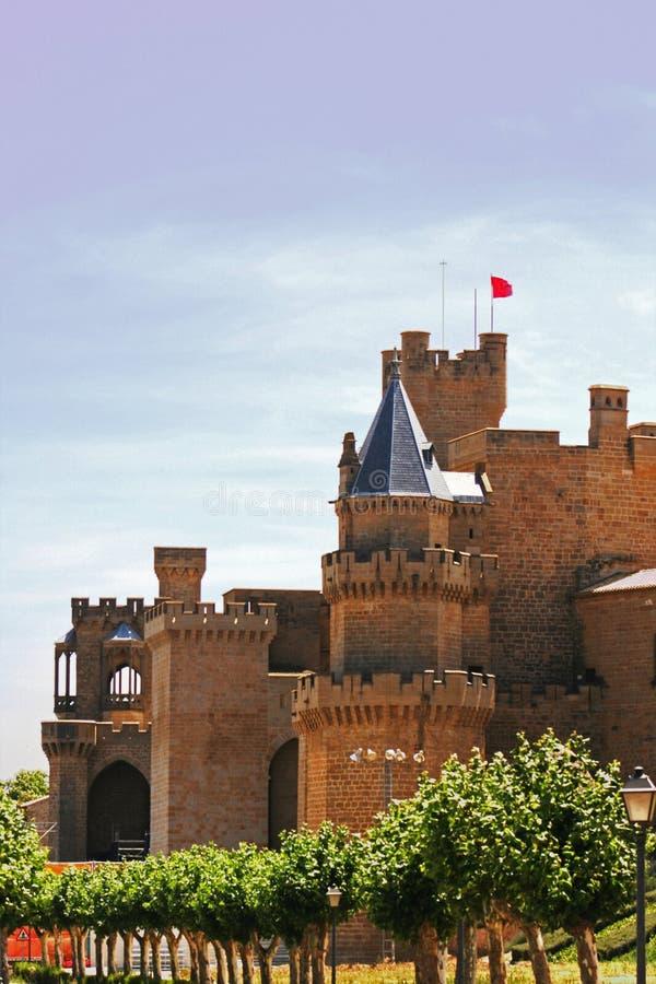 Castelo de Olite fotos de stock royalty free