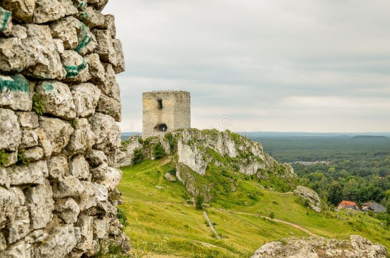 Castelo de Olsztyn imagens de stock royalty free