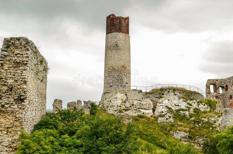 Castelo de Olsztyn imagem de stock