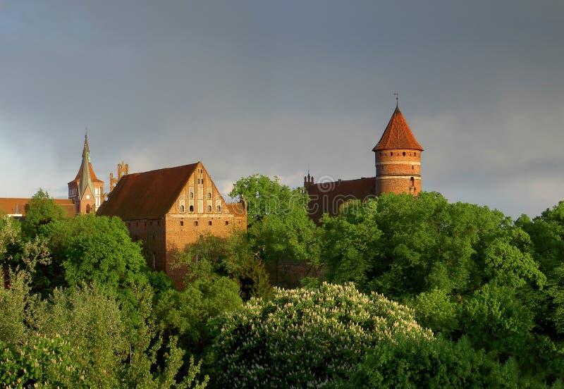 Castelo de Olsztyn foto de stock