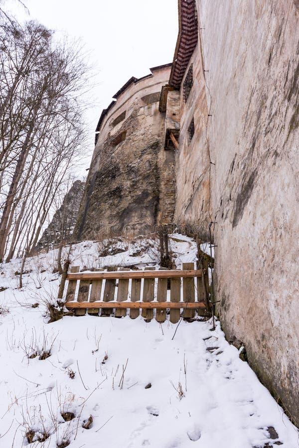 Castelo de Orava em Eslováquia, fortaleza histórica do monumento fotografia de stock