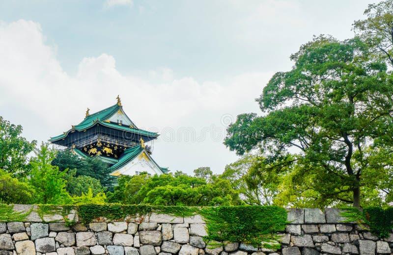Castelo de Osaka - Japão imagens de stock royalty free