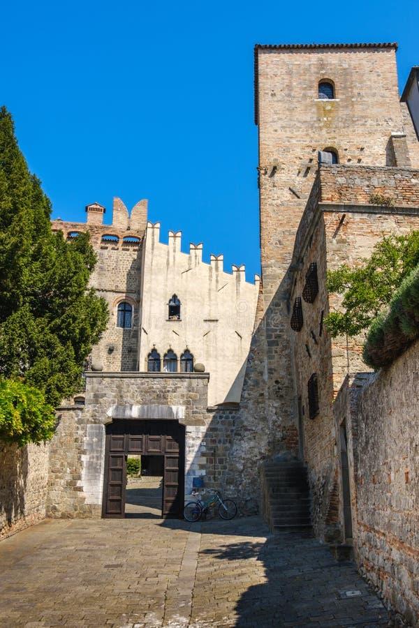 Castelo de Padua do monselice Vêneto Italia Pádua fotografia de stock