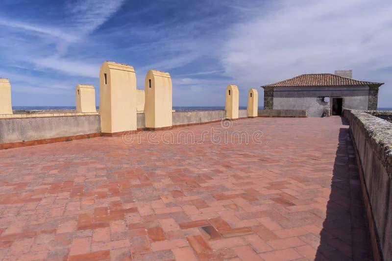 Castelo de Palmela, península de Setúbal, Portugal imagem de stock