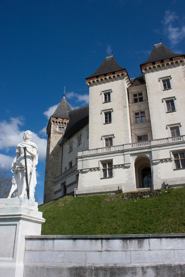 Castelo de Pau fotos de stock