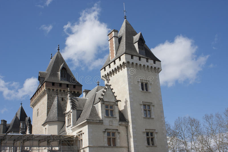 Castelo de Pau, França fotografia de stock royalty free