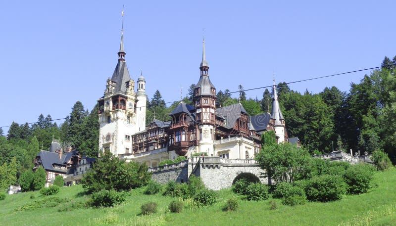 Castelo de Peles, Sinaia, a Transilvânia, Romênia imagens de stock