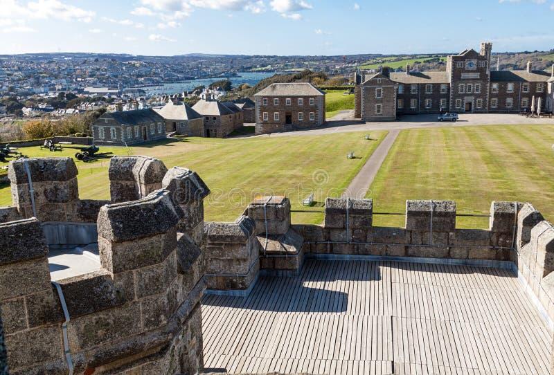 Castelo de Pendennis foto de stock