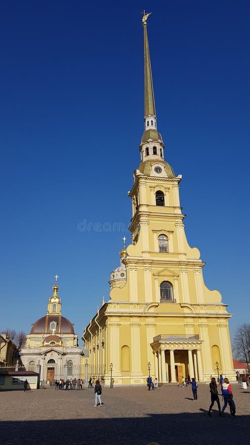 Castelo de Petropavlovskaya em St Petersburg imagens de stock