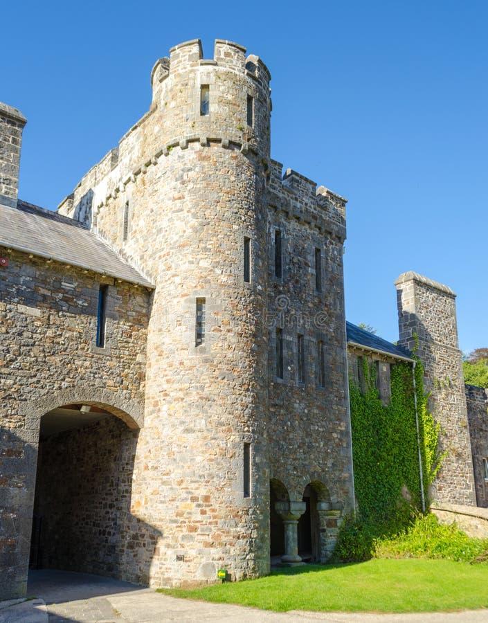 Castelo de Picton em Haverfordwest - Gales, Reino Unido foto de stock