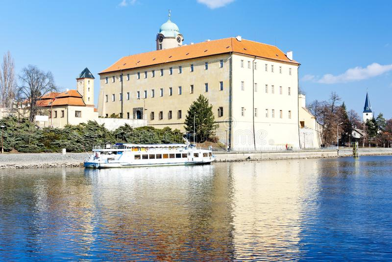 Castelo de Podebrady, República Checa foto de stock royalty free