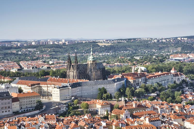 Castelo de Praga e Saint Vitus Cathedral, Rep?blica Checa fotografia de stock royalty free