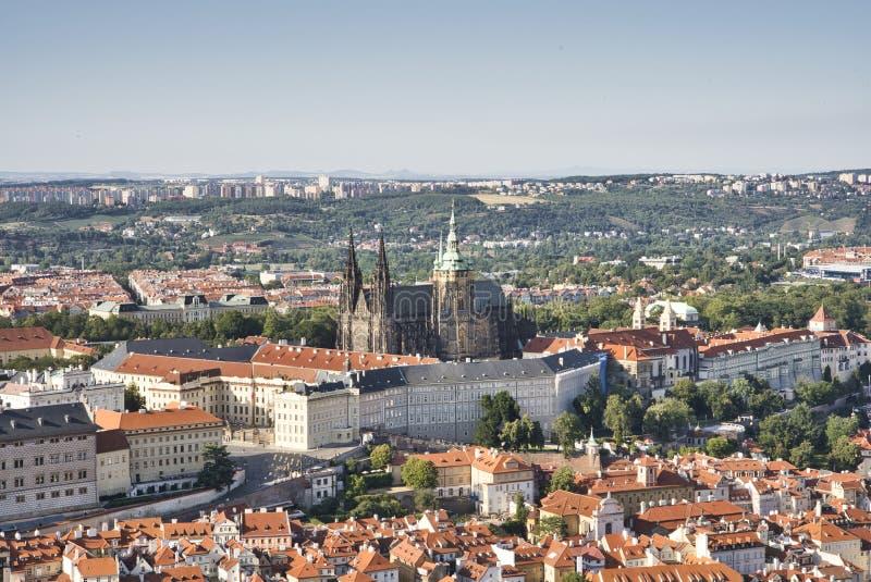 Castelo de Praga e Saint Vitus Cathedral, Rep?blica Checa fotos de stock