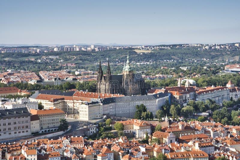 Castelo de Praga e Saint Vitus Cathedral, Rep?blica Checa foto de stock royalty free