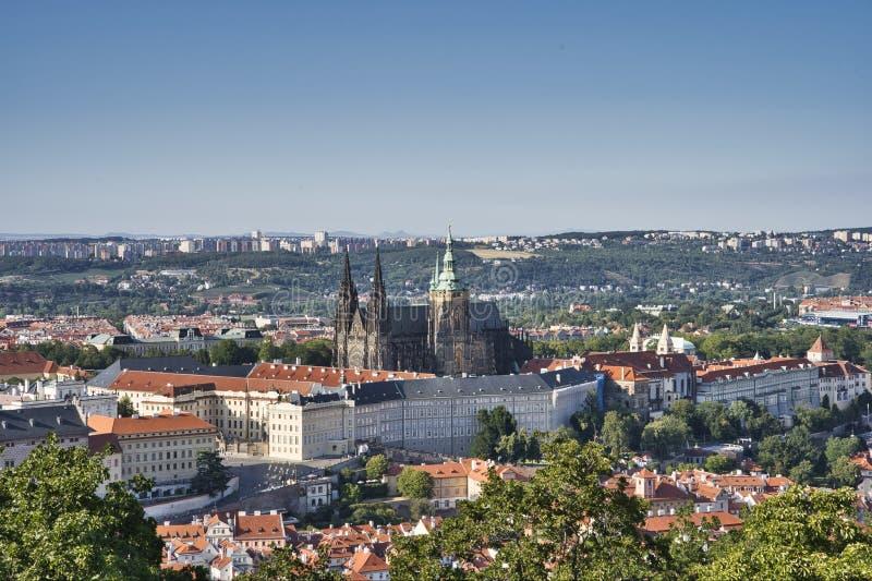 Castelo de Praga e Saint Vitus Cathedral, Rep?blica Checa imagens de stock