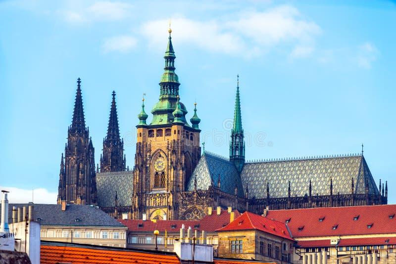 Castelo de Praga e St Vitus Cathedral, Praga, República Checa foto de stock