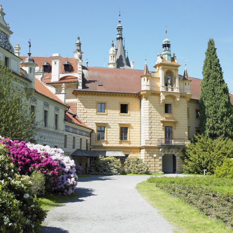 Castelo de Pruhonice imagem de stock