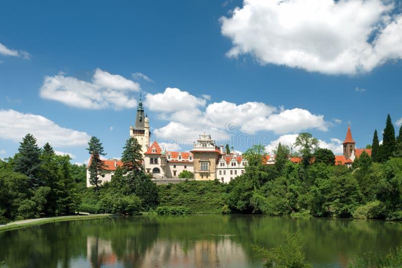 Castelo de Pruhonice foto de stock