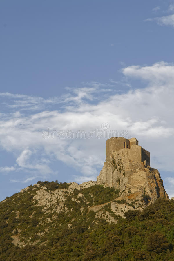 Castelo de Queribus fotografia de stock