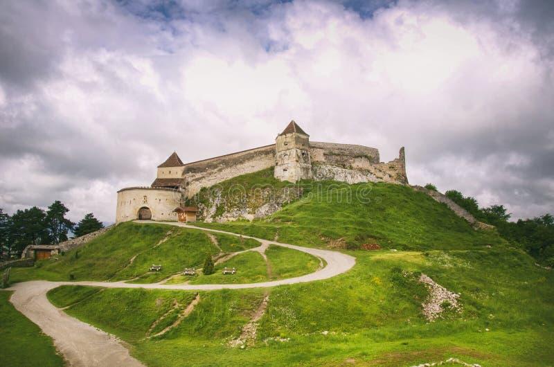 Castelo de Rasnov, Romênia fotos de stock royalty free