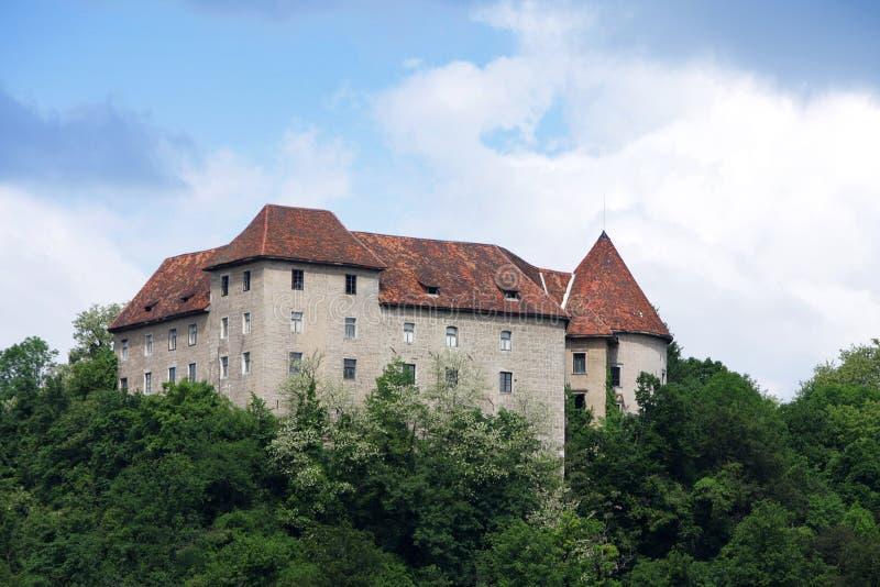 Castelo de Reichenburg fotos de stock royalty free