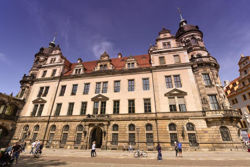 Castelo de Residenzschloss, de Dresden ou palácio real, Alemanha imagens de stock royalty free