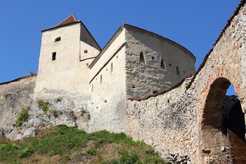 Castelo de Romania - de Rasnov fotos de stock
