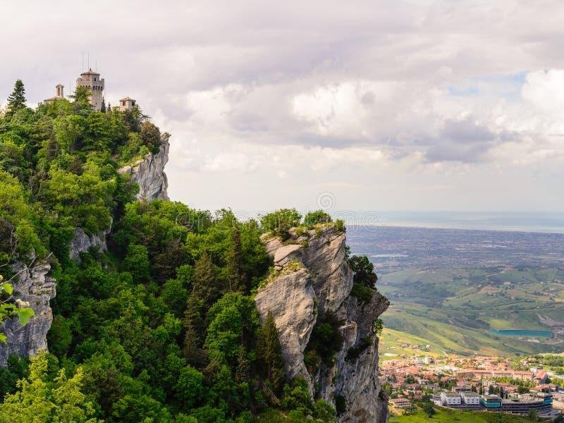 Castelo de São Marino, Itália imagem de stock