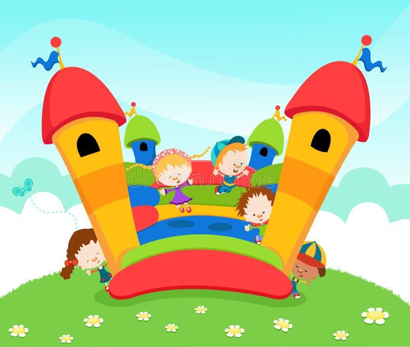 Castelo de salto ilustração stock