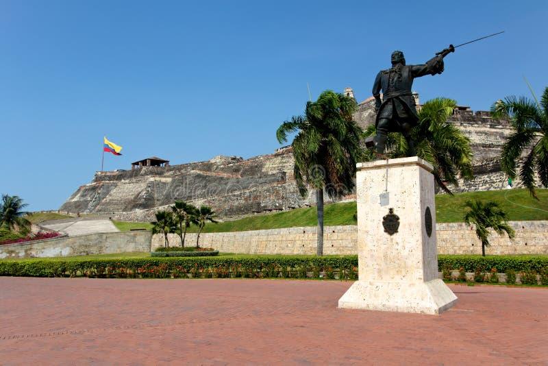 Castelo de San Felipe de Barajas em Cartagena imagens de stock royalty free