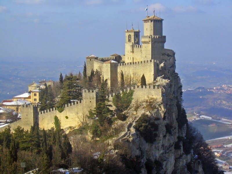 Castelo de San Marino fotos de stock royalty free