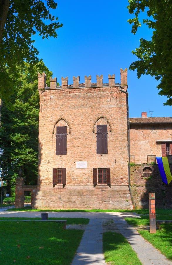 Castelo de San Secondo Parmense. Emilia-Romagna. Itália. foto de stock