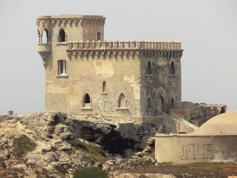 Castelo de Santa Catalina-Tarifa-Cadiz - a Andaluzia imagens de stock
