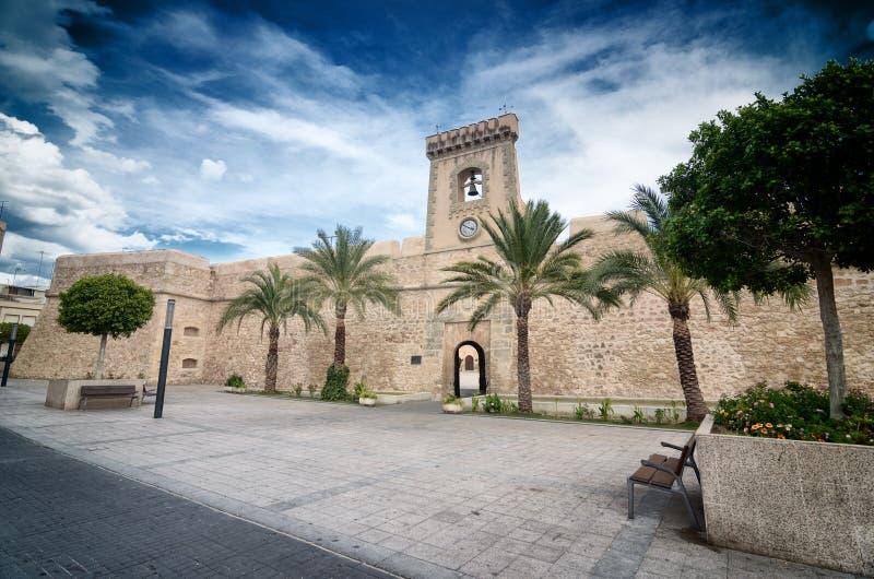Castelo de Santa Pola, Spain fotografia de stock royalty free