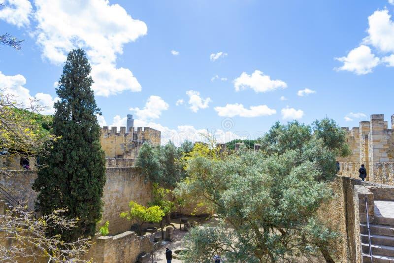 Castelo de Sao Jorge (Portugal) imágenes de archivo libres de regalías
