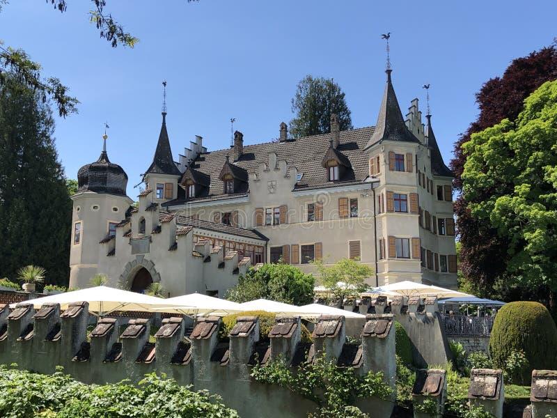 Castelo de Seeburg ou Schloss Seeburg em Kreuzlingen, Su??a imagem de stock