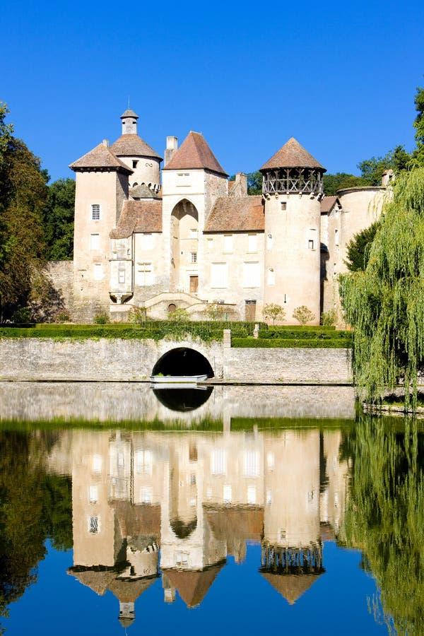 Castelo de Sercy fotos de stock