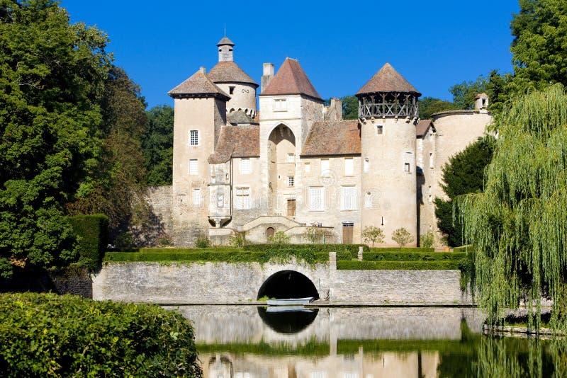 Castelo de Sercy fotografia de stock royalty free