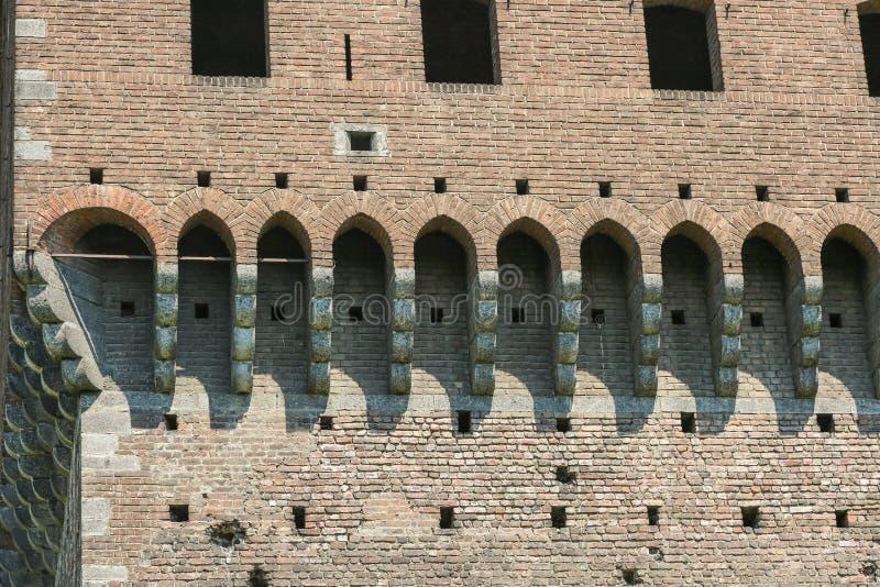 Castelo de Sforzesco, Milão imagens de stock royalty free