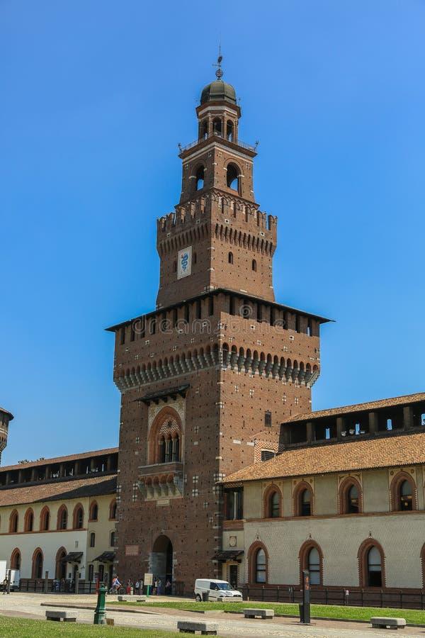 Castelo de Sforzesco, Milão foto de stock